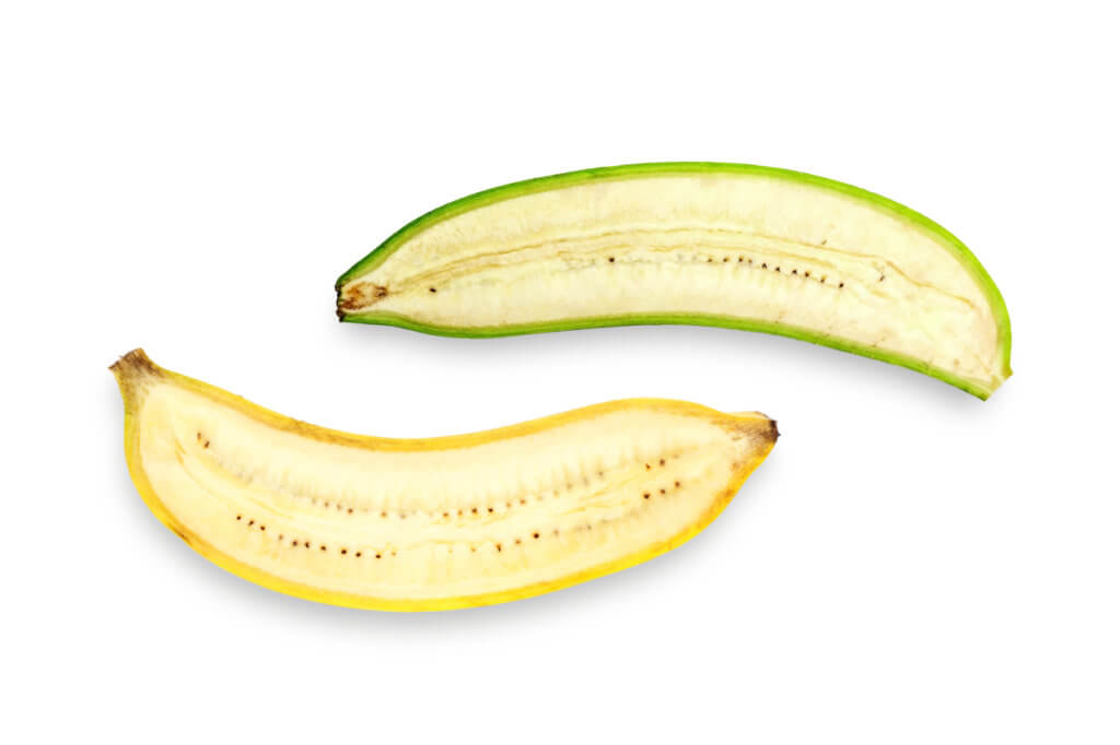 différence banane mure ou verte
